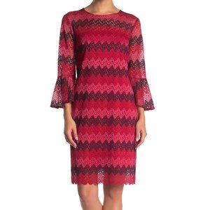 NWT Trina Trina Turk Knit Bell Sleev Sheath dress
